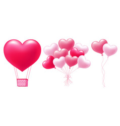balloons in heart shape vector image vector image