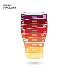 Business startup idea concept with 9 options vector image vector image