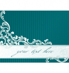 French retro banner in green vector image vector image