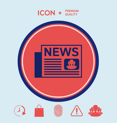 newspapers icon vector image