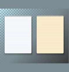 photorealistic paper notebook template vector image