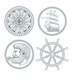 set of vintage emblems vector image vector image