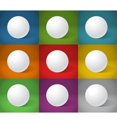 White sphere collection vector image vector image