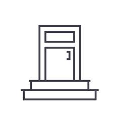 entrance door line icon sign vector image vector image