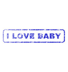 i love baby rubber stamp vector image