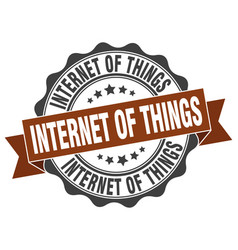 internet of things stamp sign seal vector image