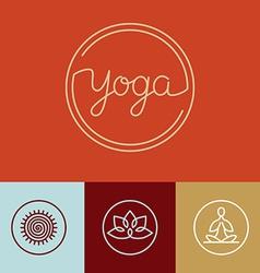 linear yoga logo vector image vector image