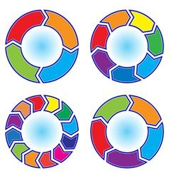 Office arrows vector image
