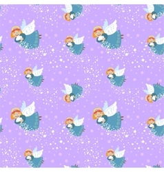 Winter holiday seamless background vector
