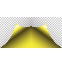 Yellow sticker with curled corner vector image