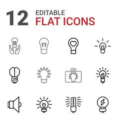 12 lightbulb icons vector