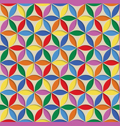 3d seamless abstract geometric pattern rainbow vector