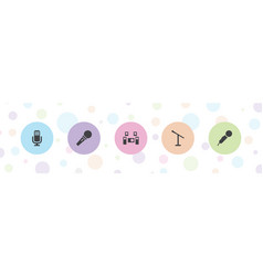 5 mic icons vector