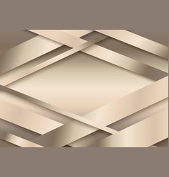abstract 3d golden stripes paper cut decoration vector image