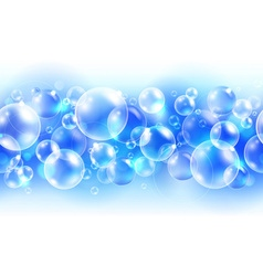Abstract blue background with air bubbles vector