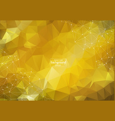 Abstract bright low poly tech background vector