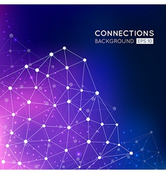 Abstract connection points background vector image