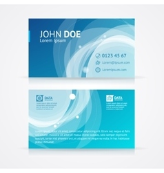 Abstract geometric business card template vector