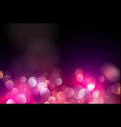 abstract pink circle blurred light bokeh lights vector image