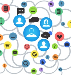 Abstract social media scheme vector