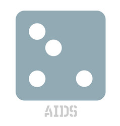 aids conceptual graphic icon vector image