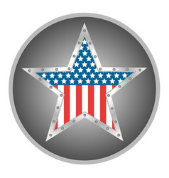 american star metal retro vector image