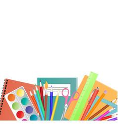 back to school concept set for children vector image