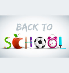 back to school elements composition vector image