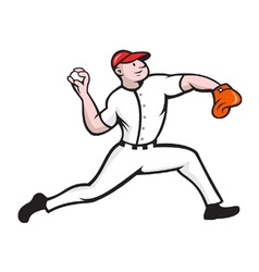 Baseball Pitcher Player Throwing vector