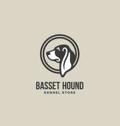 Basset hound logo vector