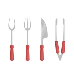 Bbq barbecue flatware set vector