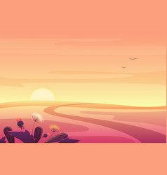 beautiful fantasy sunset or sunrise summer autumn vector image