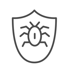 beetle in the shield icon element of cyber vector image