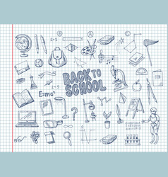 big set school supplies vector image