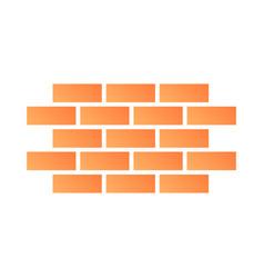 Brick wall flat icon bricks color icons in trendy vector