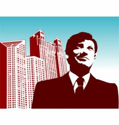 businessman-city vector image