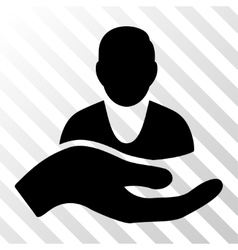 Client Care Hand Icon vector image