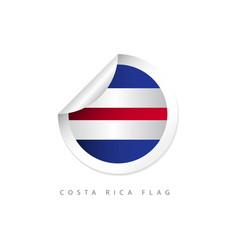 costa rica label flags template design vector image