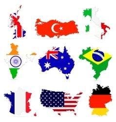 Creative set countries maps vector