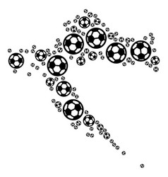 Croatia map composition of soccer balls vector