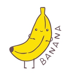 cute cartoon banana character vector image