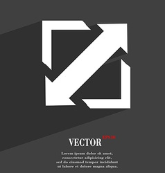 Deploying video screen size icon symbol flat vector