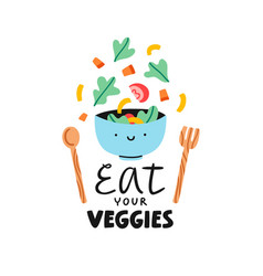 Eat your veggies vector