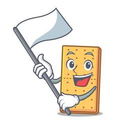 Flag graham cookies mascot cartoon vector