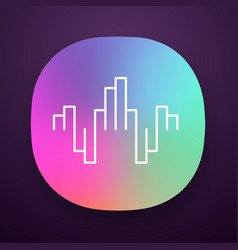 geometric music wave app icon abstract soundwave vector image