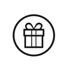 gift icon on a white background vector image
