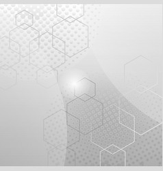 grey white abstract technology background vector image