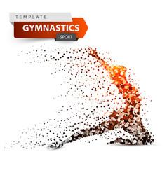 Gymnastics sport - dot on the white vector