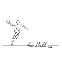 Handball player minimalistic banner vector