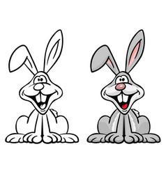 happy bunny rabbit cartoon vector image